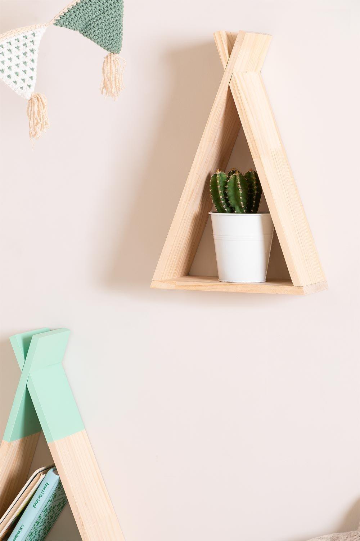 Sius Natural Kids Wood Wall Shelf, gallery image 1