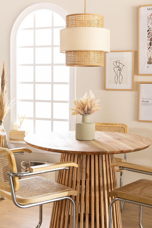 Rattan Ceiling Lamp Satu, gallery image 1