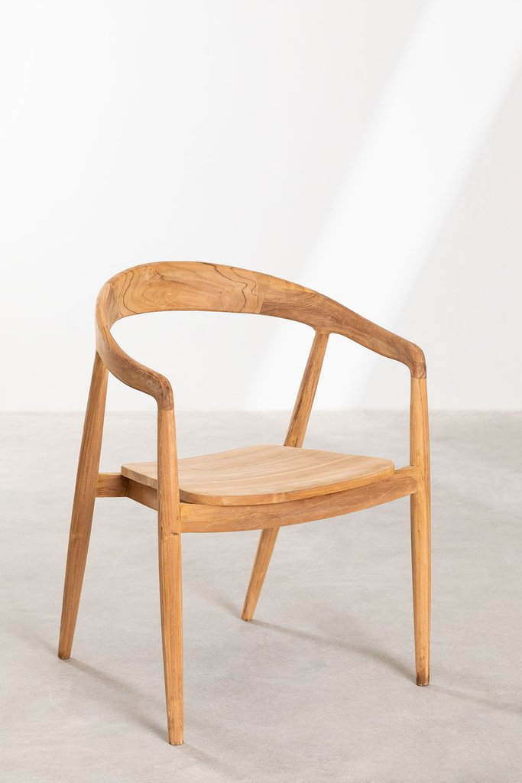 Soria Teak Wood Dining Chair, gallery image 1