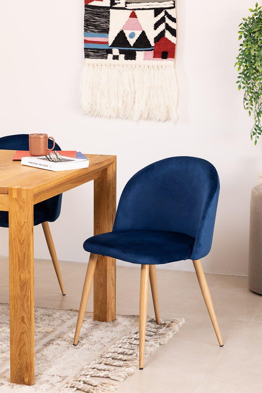 PACK 4 Velvet Dining Chairs Kana , gallery image 1