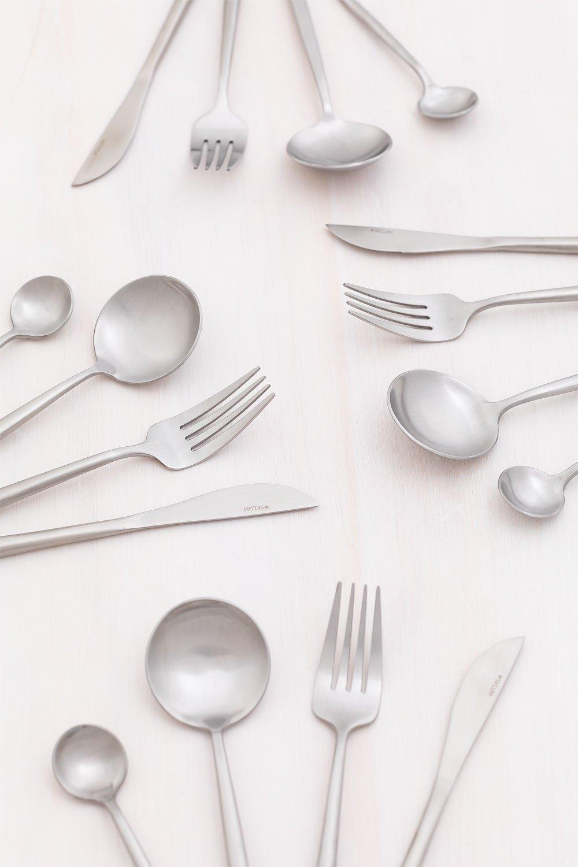 Matte Metallic Cutlery 16 pieces Noya , gallery image 1
