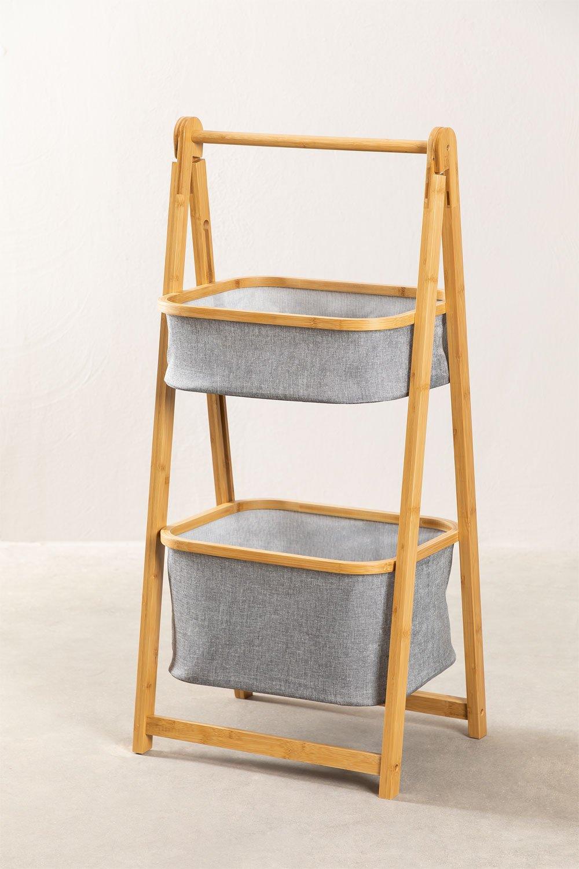Yvet Bamboo Shelf with 2 Baskets, gallery image 1