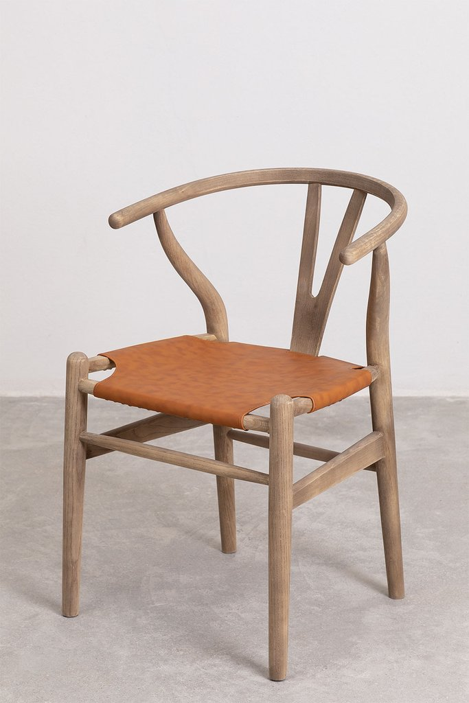 Uish Leatherette Dining Chair, gallery image 1