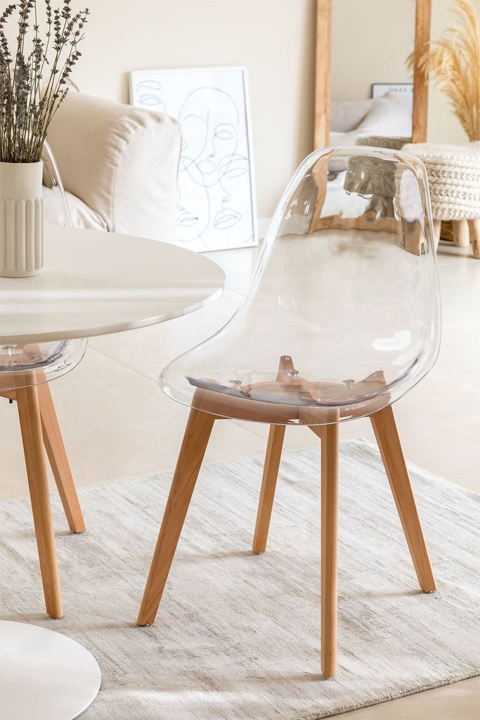 Transparent Nordic Brich Scand Chair, gallery image 1