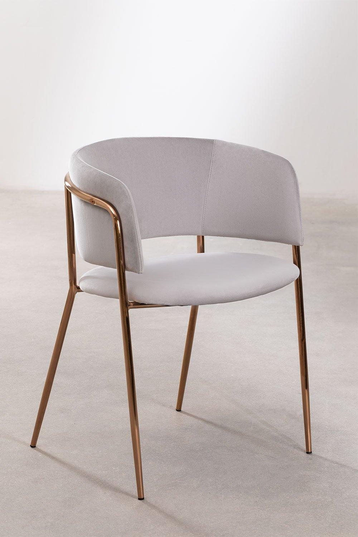 Nalon Style Velvet Dining Chair , gallery image 1