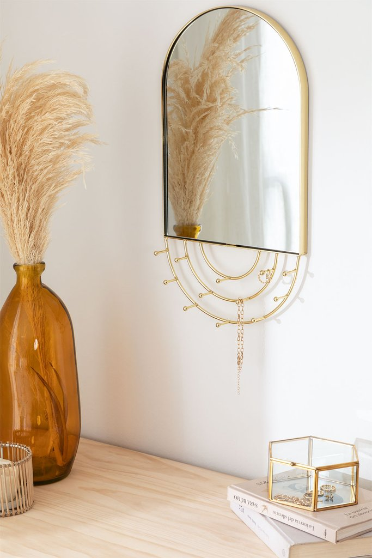 Wall-Mounted Jewelry Mirror in Metal Loan, gallery image 1
