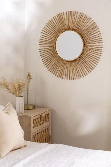 Round Metal Wall Mirror (Ø80 cm) Circe