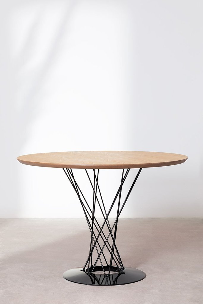 Round MDF Dining Table & Steel (Ø100 cm) Laho, gallery image 1