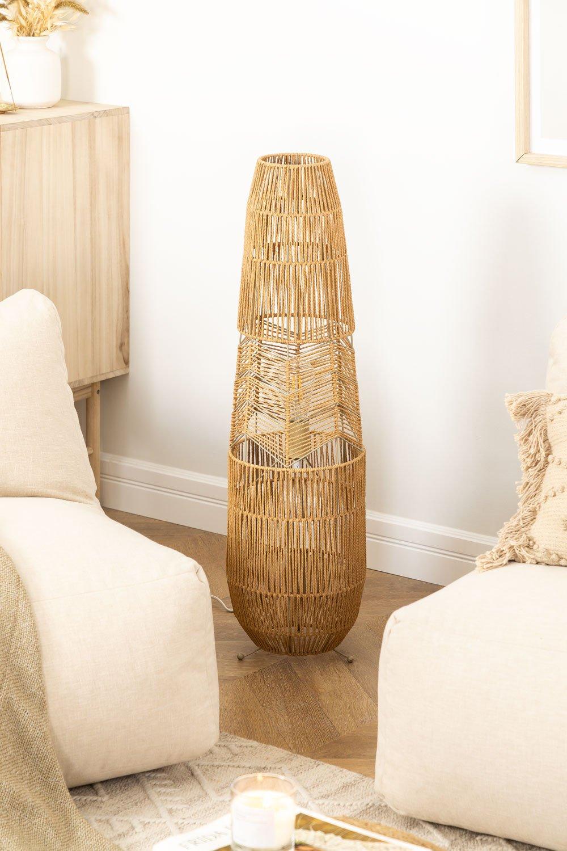 Braided Paper Floor Lamp Menak , gallery image 1