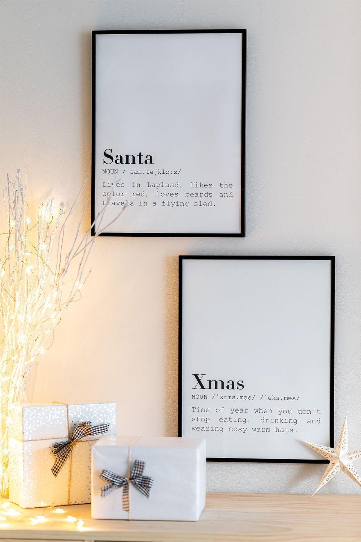 Set of 2 Christmas Decorative Plates (30x40 cm) Santa, gallery image 1