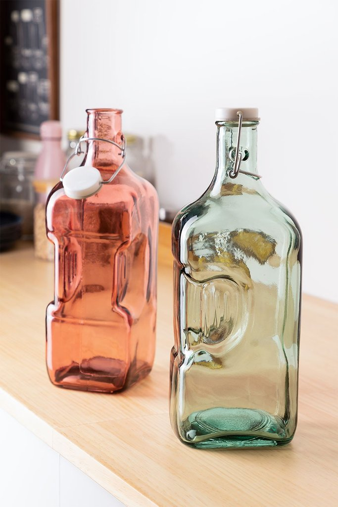 2L Recycled Glass Bottle Velma, gallery image 1