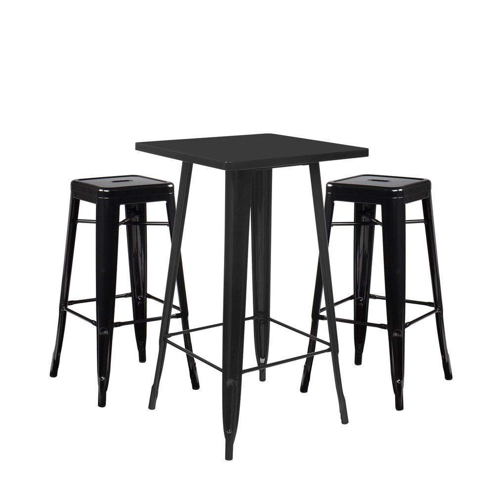 Set High Table LIX & 2 High Stools LIX, gallery image 1