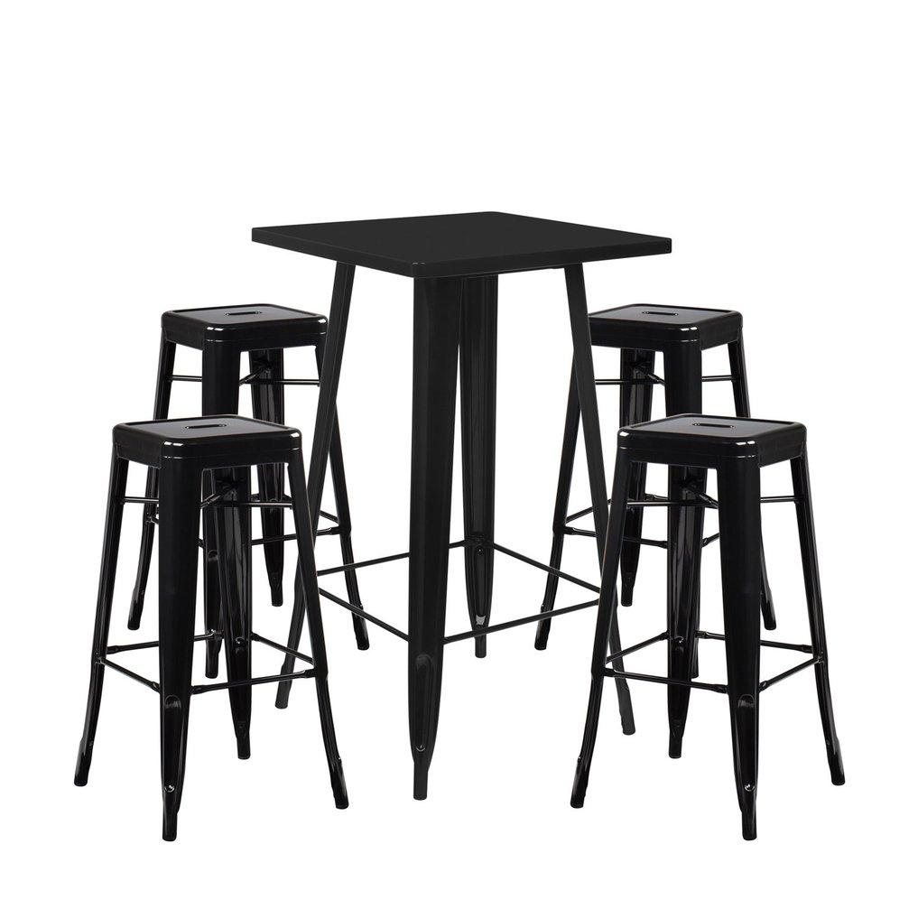 Set High Table LIX & 4 High Stools LIX, gallery image 1