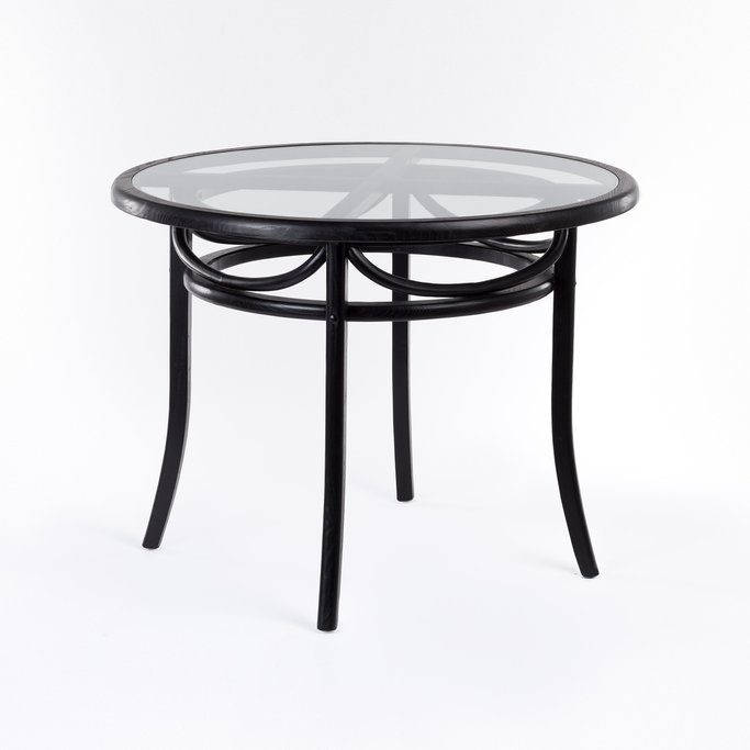 Round Dining Table in Wood (Ø100 cm) Thon, gallery image 1