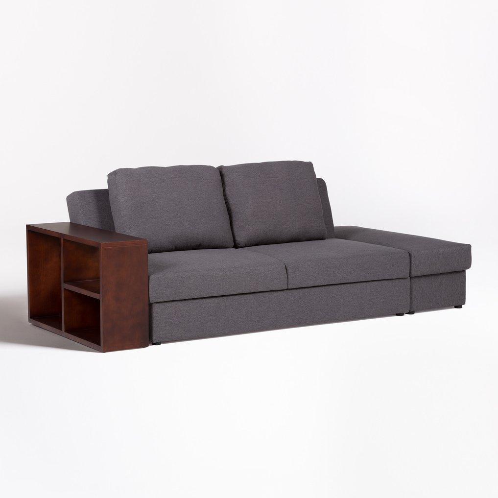 Linen 2 Seater Modular Sofa Bed Kauri , gallery image 1