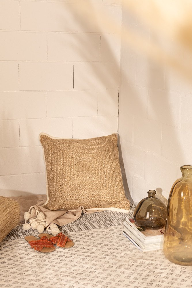 Cotton and Jute Cushion Rento , gallery image 1