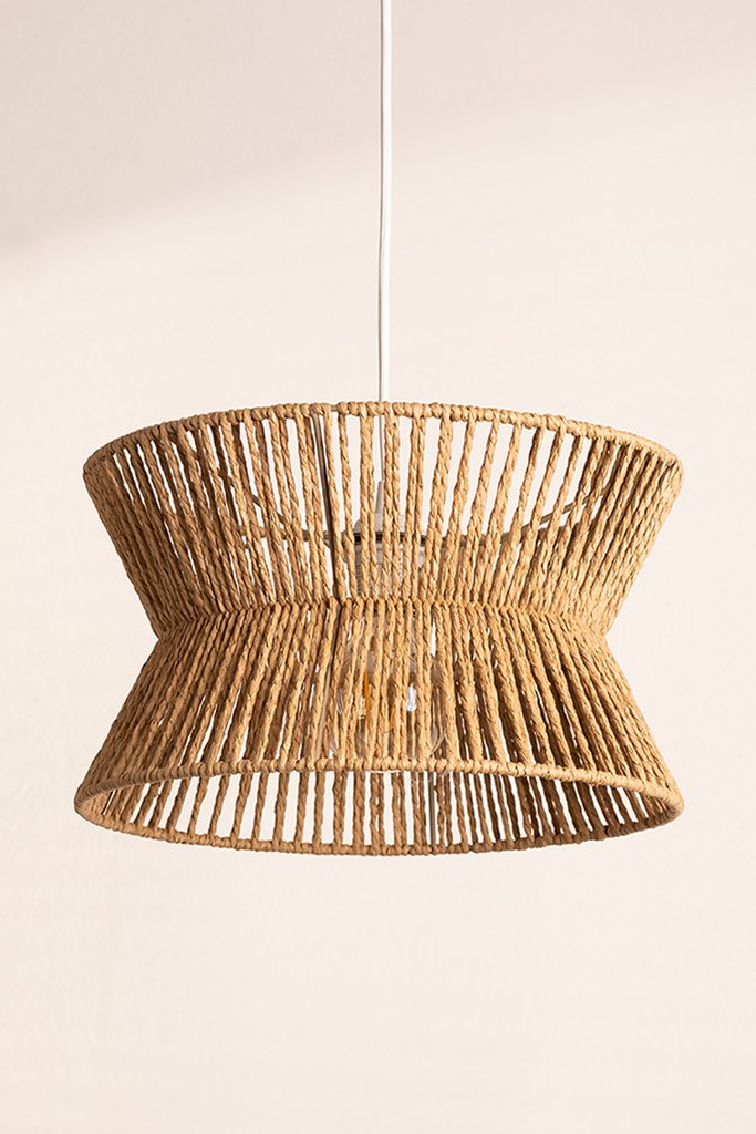 Braided Paper Ceiling Lamp Bonny, gallery image 1