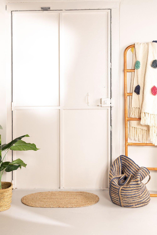 Natural Jute Oval Doormat (73x46.5 cm) Never, gallery image 1