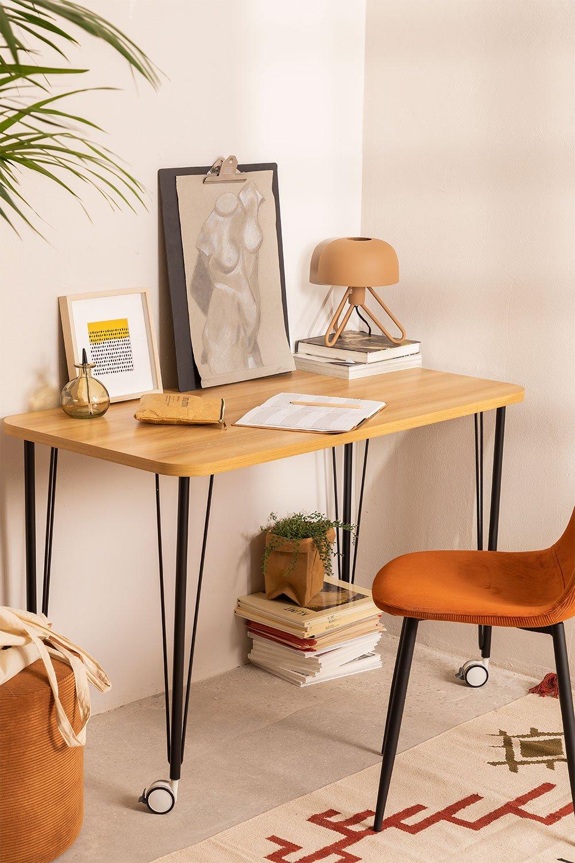 Steel & Melamine Desk on Caster  Nâpe, gallery image 1