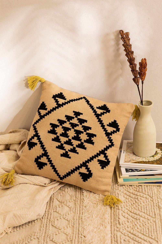 Kyle Square Cotton Cushion (50x50 cm) , gallery image 1