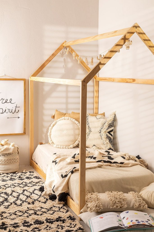 Wooden Bed for Mattress 90 cm Obbit Kids, gallery image 1