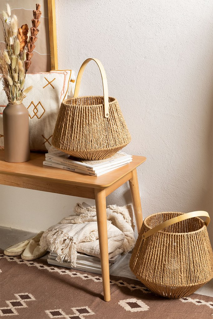 Braided Paper Table Lamp Milei, gallery image 1