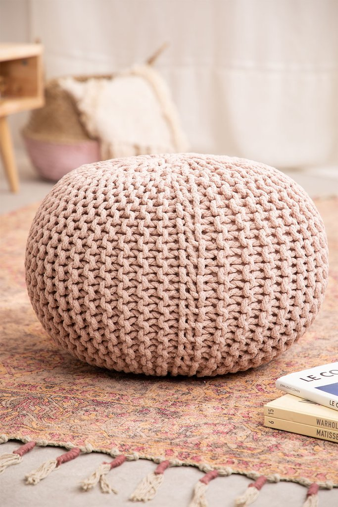 Knitted Round Pouffe Greicy , gallery image 1