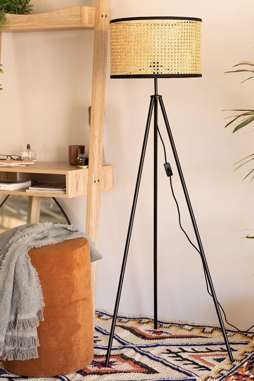 Rattan Floor Lamp Elias, gallery image 1