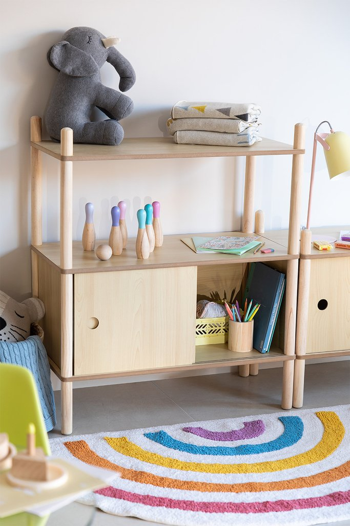 Kids Wooden Shelving Unit  with Storage Tulia, gallery image 1