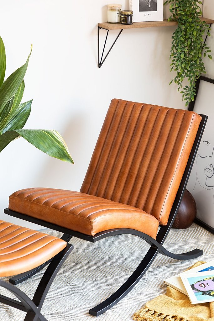 Revyan Leather Chair, gallery image 1