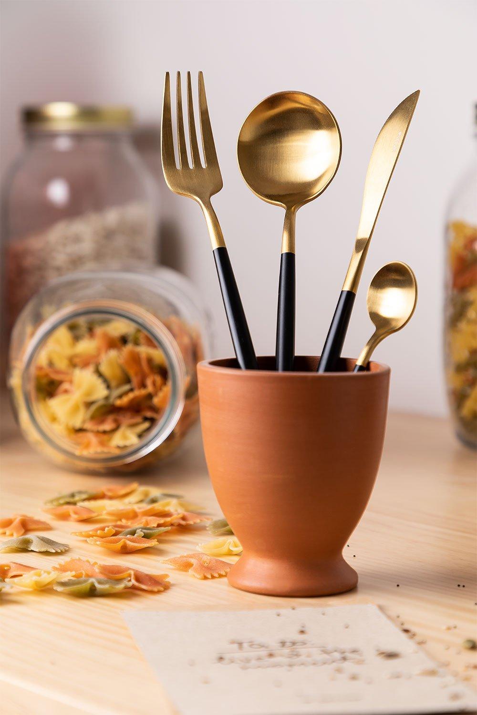 Metallic Cutlery Noya Colors 16 Pieces, gallery image 1