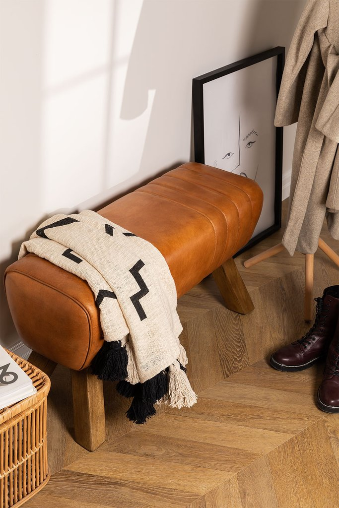 Leather Bench Aldra, gallery image 1