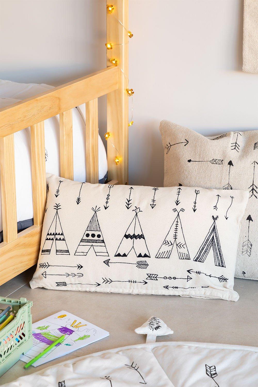 Rectangular Cotton Cushion (30x50 cm) Indi Kids, gallery image 1