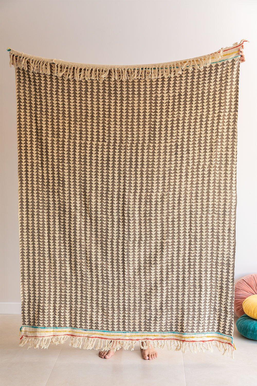 Plaid Cotton Blanket Felisa, gallery image 1