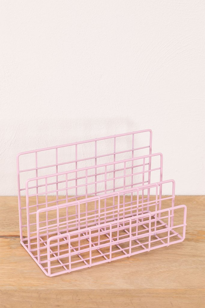 Metal Magazine Rack with Compartments Bok, gallery image 1