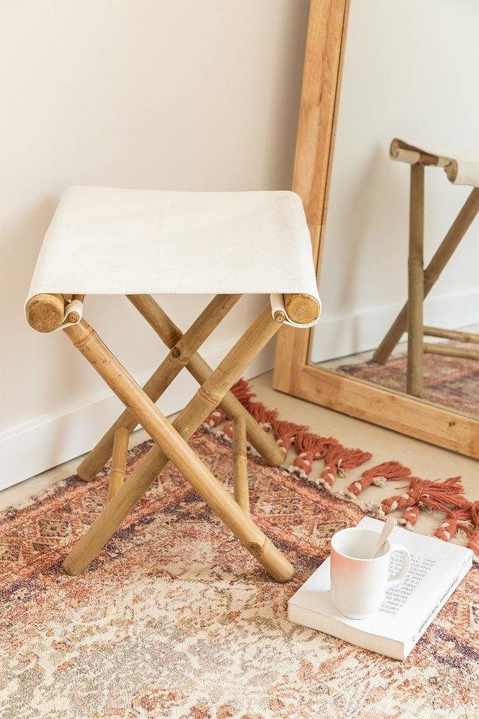Woody Low Bamboo Stool , gallery image 1