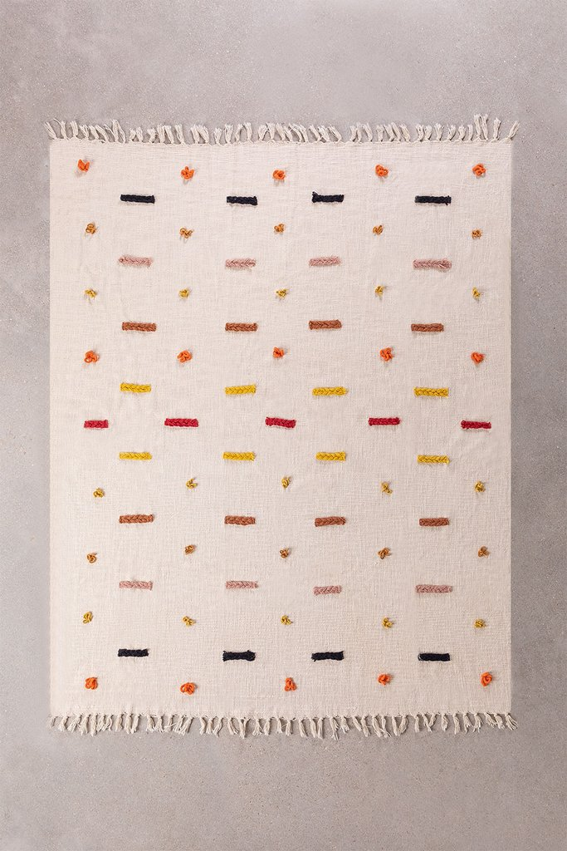 Plaid Blanket in Nanki Cotton, gallery image 1
