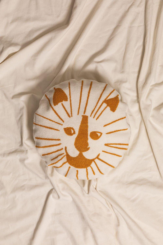 Round Cotton Cushion (Ø40.5 cm) Aslan Kids, gallery image 1