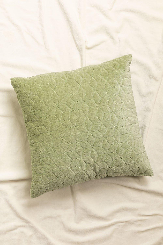 Square Velvet Cushion (40x40 cm) Sine, gallery image 1