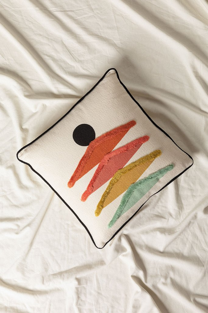 Cushion with Cotton Embroidery (45x45 cm) Falbus, gallery image 1