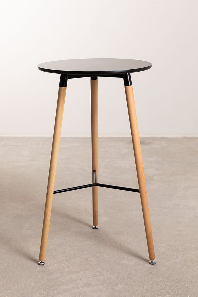 Round High Table in MDF and Metal (Ø60 cm) Royal Design, gallery image 1
