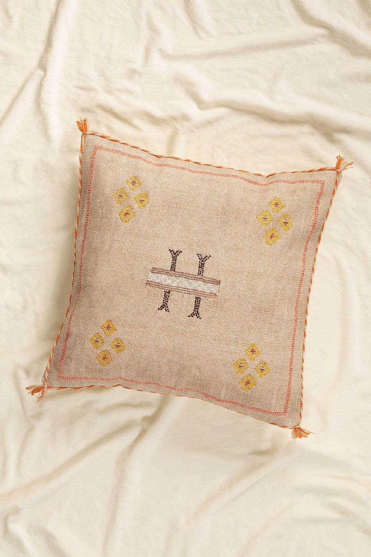Bron Square Cotton Cushion (50x50cm) , gallery image 1