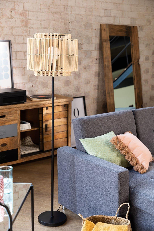 Bamboo Floor Lamp Kapua , gallery image 1