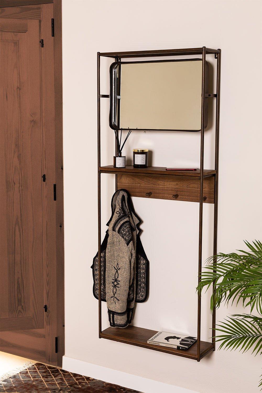 Combined Hallway Shelf- Coat Rack & Mirror  Nosq , gallery image 1