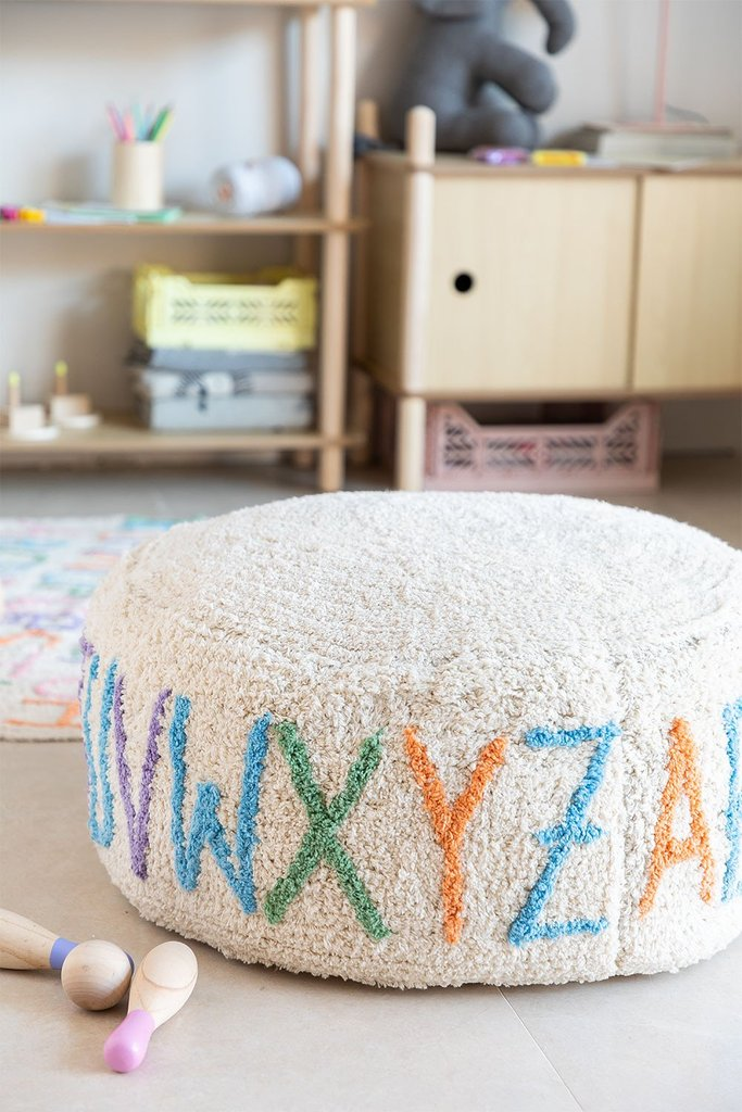 Round Cotton Letters  Pouffe , gallery image 1
