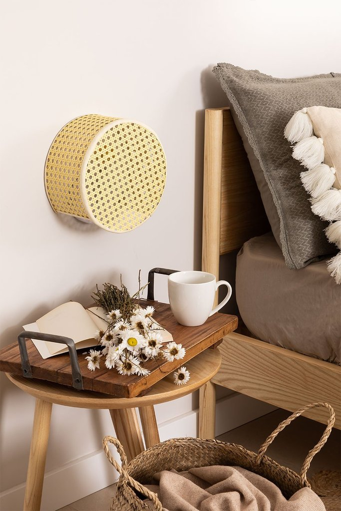 Rattan Cram Wall Sconce, gallery image 1