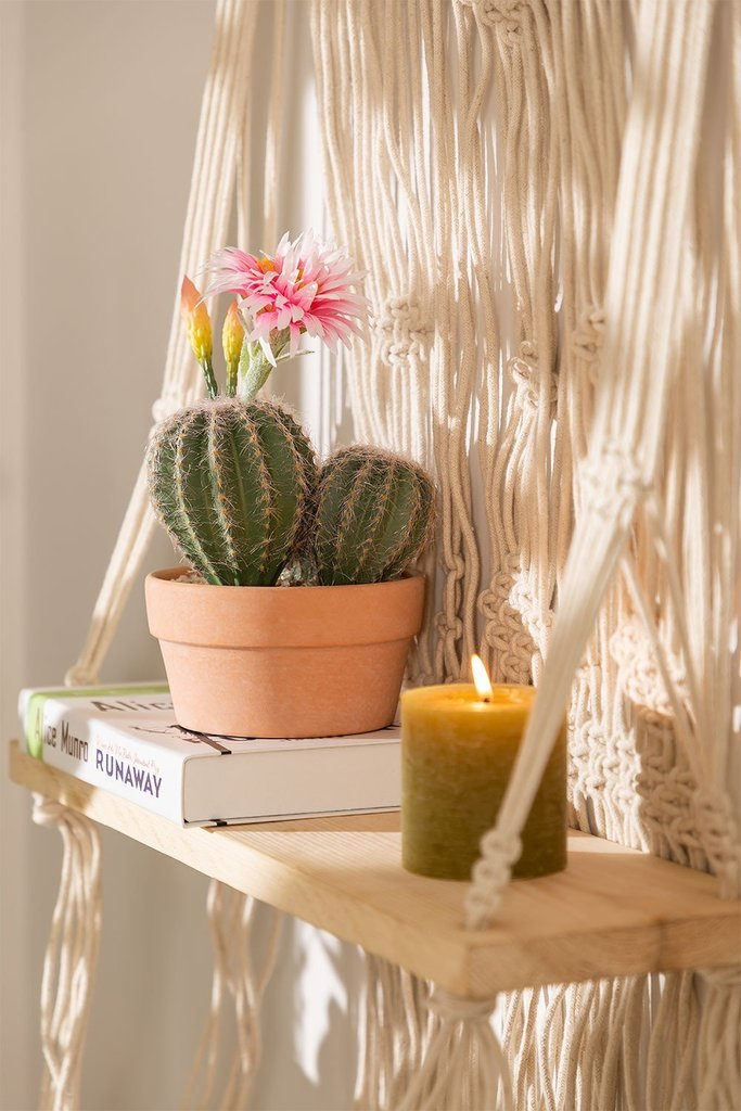 Artificial Cactus with Rebutia Flowers, gallery image 1