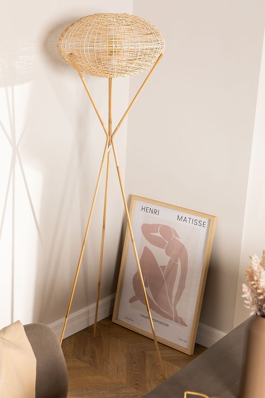 Rattan Floor Lamp Xauron, gallery image 1