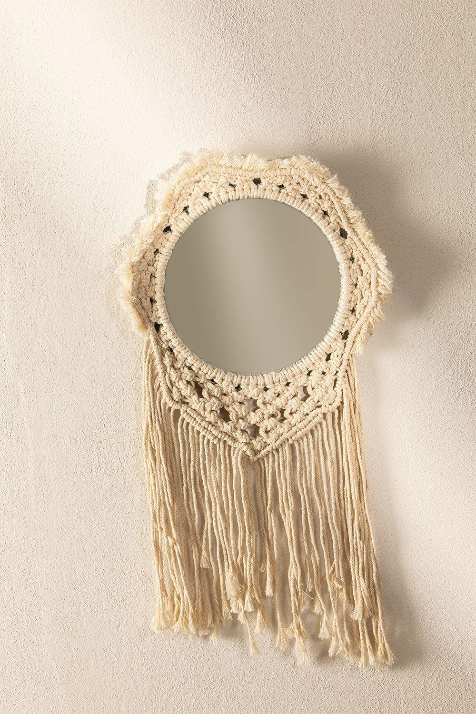 Wall Mirror in Macrame Denot, gallery image 1