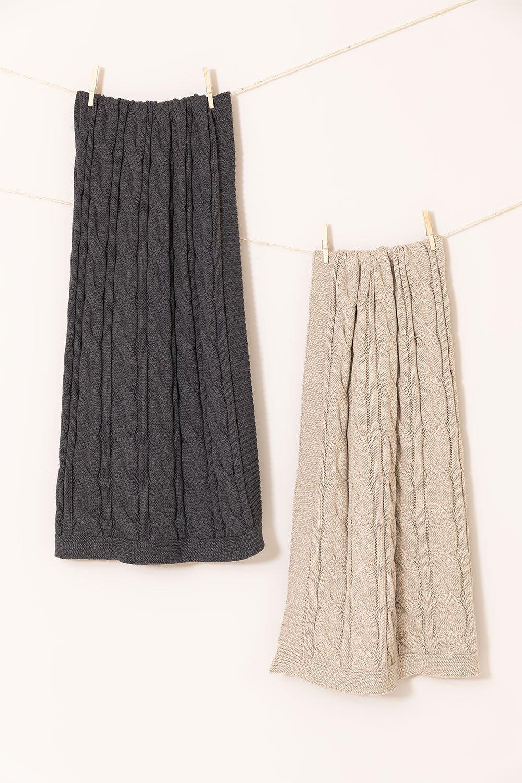 Plaid Anuri Cotton Blanket, gallery image 1